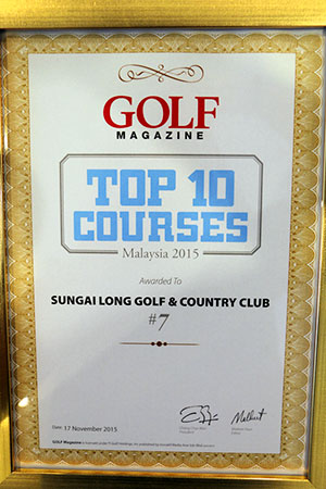 TOP 10 GOLF COURSES MALAYSIA 2015 @ 7 th place